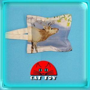 😺 Unique handmade catnip cat toy elk plaid